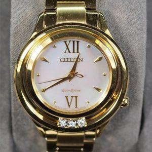 Citizen Women's Eco-Drive Gold Tone Sunrise Watch